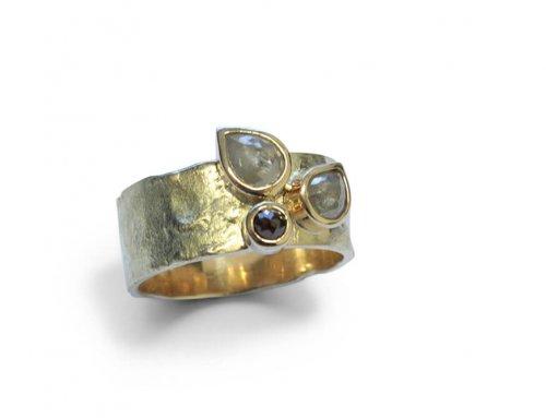 Robuuste ringen – 3 x roosdiamant