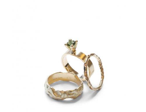 Gesmolten ringen – Groene toermalijn