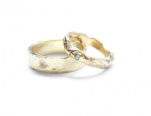 Gesmolten Ringen – Apple green diamant